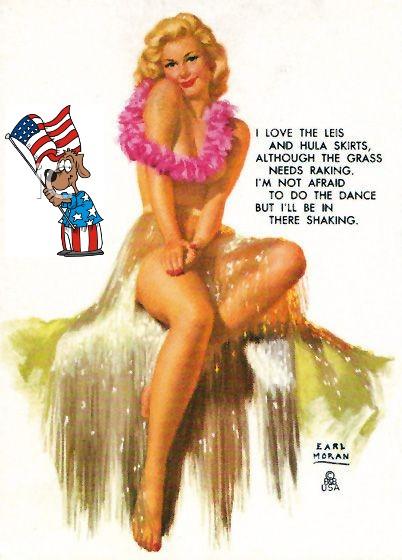 Patriotic Pinup Earl Moran