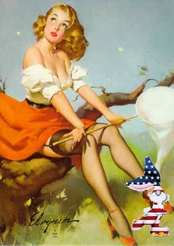 patriotic pinup elvgren spring