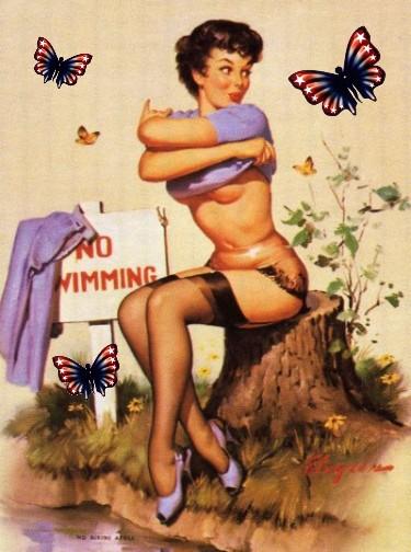 Patriotic pinup No Bikini Atoll