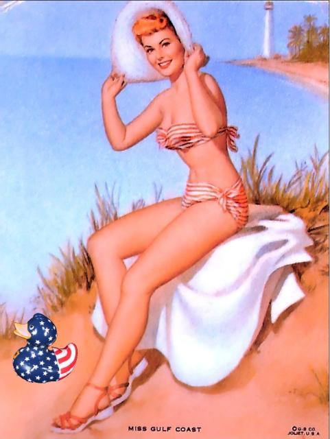 Patriotic Pinup Pearl Frush