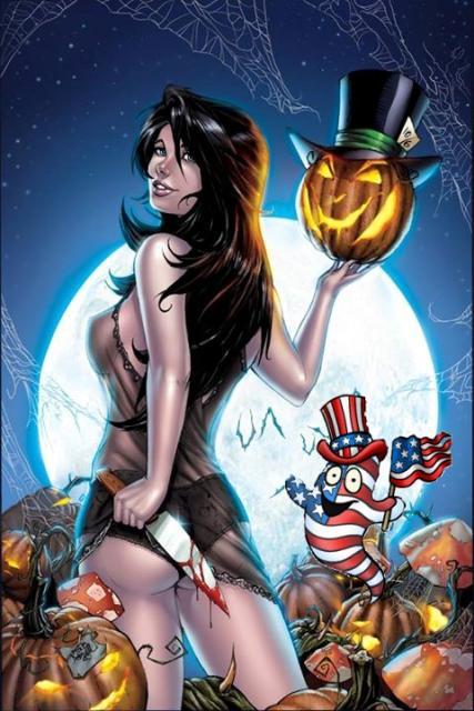 Patriotic Pinup Halloween