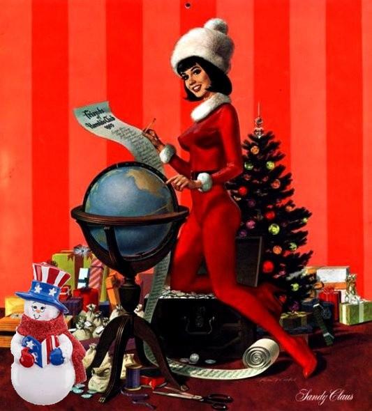 Patriotic Pinup Christmas