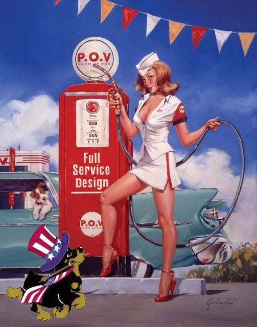 Patriotic Pinup Bill Garland