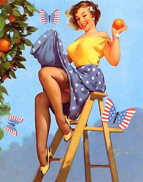 Gil Elvgren Oranges Patriotic Pinup