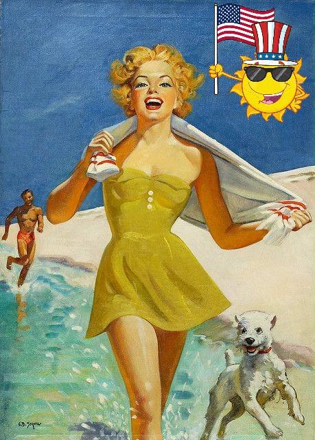 Barbara Ellen Segner Beach Pinup