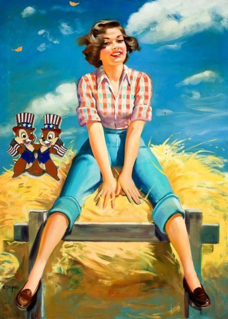 Patriotic Pinup Ellen Segner