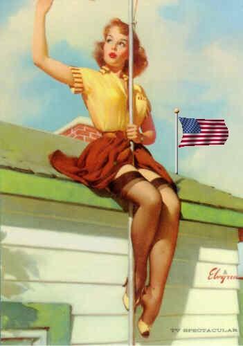 patriotic pinup gil elvgren